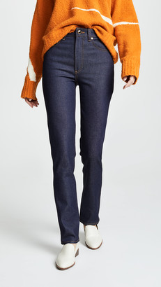 KHAITE Victoria Straight Leg Jeans