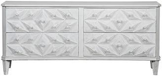 Noir Giza 4-Drawer Dresser - Distressed White