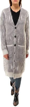 Amiri Snakeskin Effect Knitted Cardigan