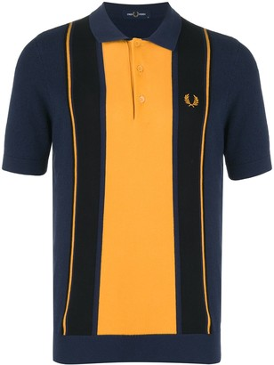 Fred Perry Striped Knit Boucle Polo Shirt