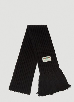 Gucci Logo Chunky Knit Scarf