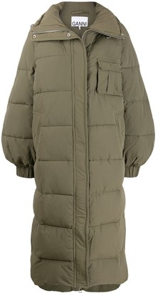 Ganni Long Padded Coat