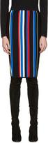 Versace Multicolor Striped New York Skirt