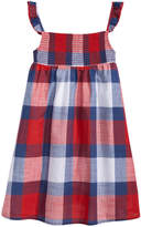 Epic Threads Cotton Flutter-Sleeve Plaid Dress, Little Girls, Created for Macy's