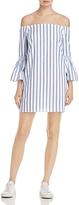 Aqua Off-the-Shoulder A-Line Dress - 100% Exclusive
