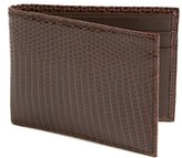 Boconi Men's Lizard Slimfold Wallet - Brown