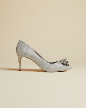 Ted Baker Metallic Brooch Detail Courts