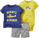 Carter's 3-pc. Short-Sleeve Plane Bodysuit Set - Baby Boys newborn-24m