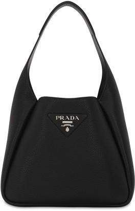 Prada Small Leather Bucket Bag