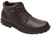 Rockport Rugged Bucks Plain Toe Leather Boots, Dark Brown