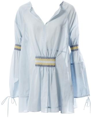 Loewe Blue Cotton Top for Women
