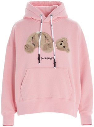Palm Angels Teddy Bear Embroidered Hoodie