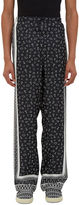Fendi Men's Printed Pyjama Pants In Black And White