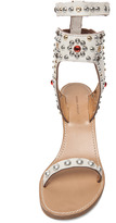 Isabel Marant Caroll Strassed and Studded Sandal in Craie
