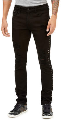 GUESS Men Skinny-Fit Studded Jeans