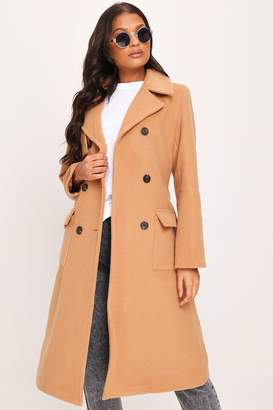 I SAW IT FIRST Tan Formal Wrap Coat