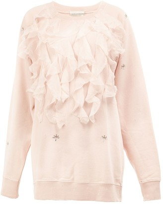 Faith Connexion Ruffled Applique Sweatshirt