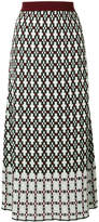 I'M Isola Marras geometric pattern midi skirt