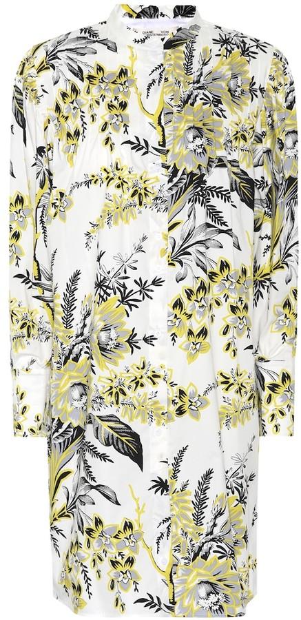Diane von Furstenberg Floral-printed poplin shirt dress