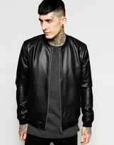 ONLY & SONS Faux Leather Perforated Jacket