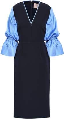 Roksanda Silk-blend Twill And Crepe Dress