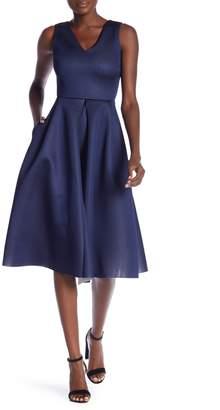 Love...Ady Double V Scuba Midi Dress