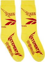Vetements Yellow Reebok Edition Metal Socks