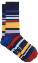 Paul Smith - Andy Artist Stripe Cotton Blend Socks - Mens - Multi