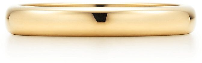 Tiffany & Co. ClassicTM wedding band ring in 18k gold, 3 mm wide