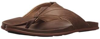 OluKai Pikoi (Black/Black) Men's Sandals