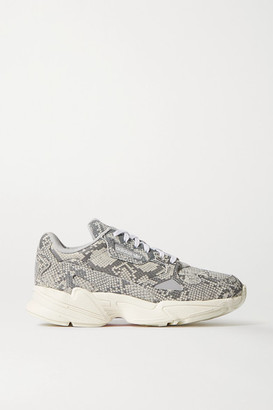 adidas Falcon Snake-effect Leather Sneakers - Snake print