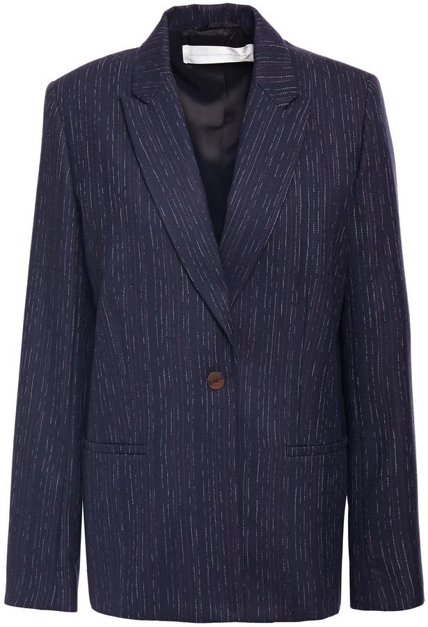 Victoria Victoria Beckham Pinstriped Wool-blend Twill Blazer