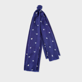 Paul Smith Women's Navy 'Star Spangled' Print Silk Scarf