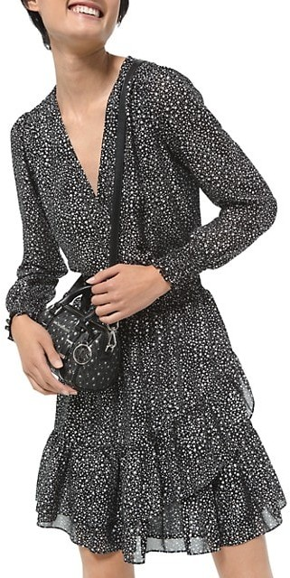 MICHAEL Michael Kors Spaced Galaxy Ruffle Dress