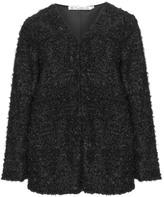 Studio Plus Size Soft fancy yarn knit cardigan