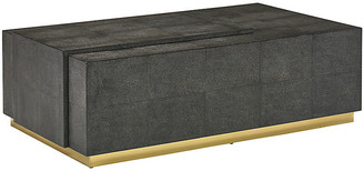 Mr & Mrs Howard Eugenia Faux-Shagreen Coffee Table - Charcoal