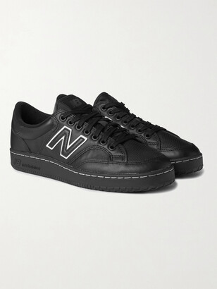Comme des Garçons Homme + New Balance Pro Court Leather And Mesh Sneakers