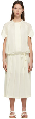 Low Classic Off-White Pleated Dress