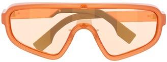 Fendi Eyewear Botanical shield sunglasses