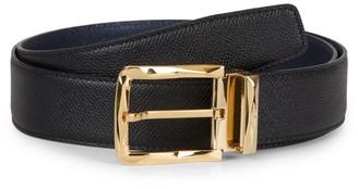 Salvatore Ferragamo Reversible Rectangular Buckle Leather Belt