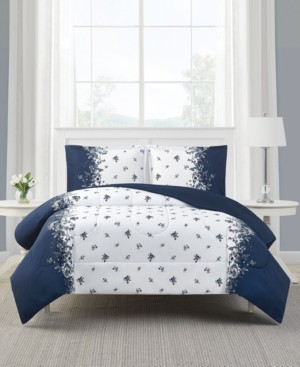 Mytex Toile Stripe 2-Pc. Reversible Twin Comforter Set, Created for Macy's Bedding