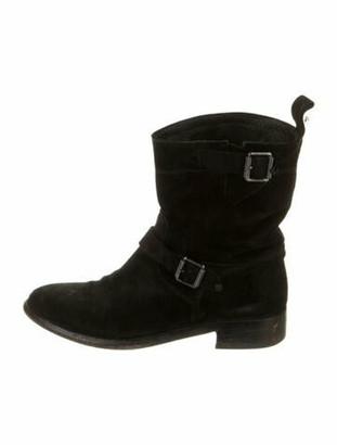Belstaff Suede Moto Boots Black