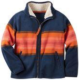 Carter's Boys 4-8 Patterned Microfleece Zip-Up Jacket
