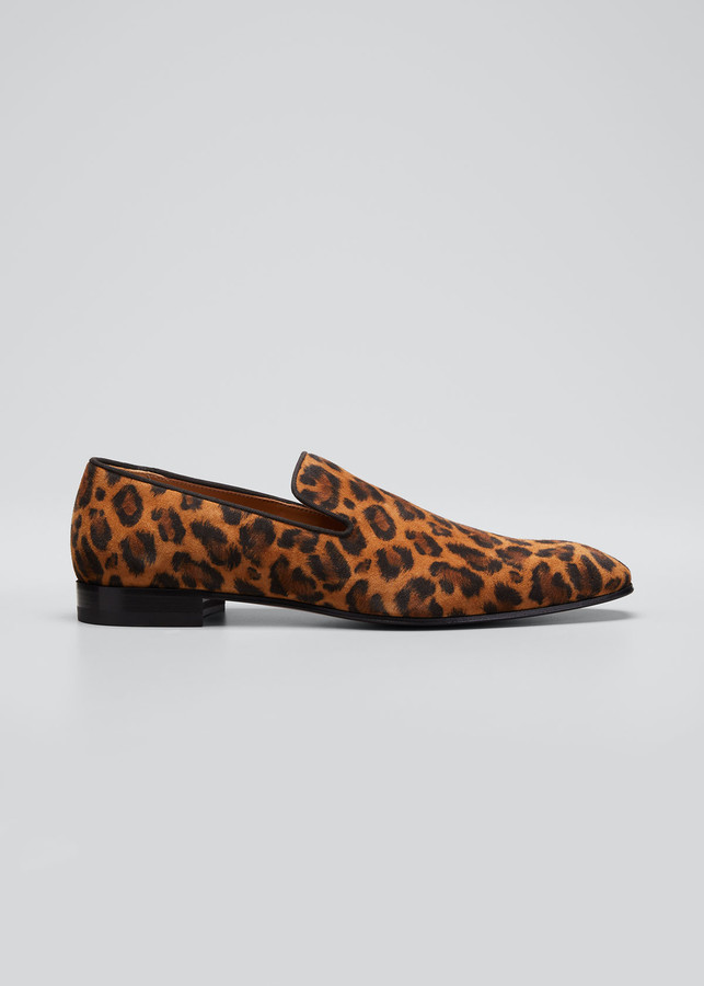 Mens Leopard Print Loafers | Shop the
