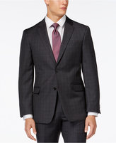 Tommy Hilfiger Charcoal Windowpane Slim-Fit Jacket