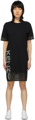 Kenzo Black Sport Logo T-Shirt Dress