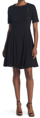 Taylor Stretch Crepe Fit & Flare Dress