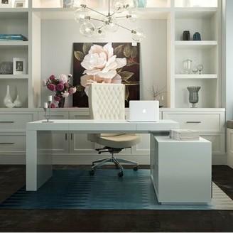 Orren Ellis Camron L-Shape Executive Desk