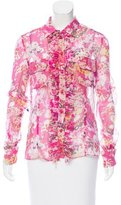 Ungaro Printed Button-Up Blouse