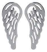 Mary Jane MaryJane Women's Earrings Stainless Steel Width 6 Mm Height 14 Mm Steel Angel Wings Round